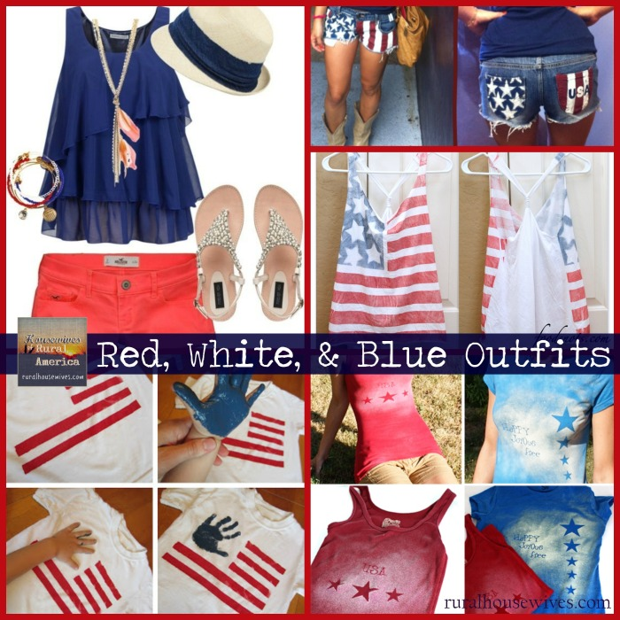 Red White Blue Outfits - Rural Housewives